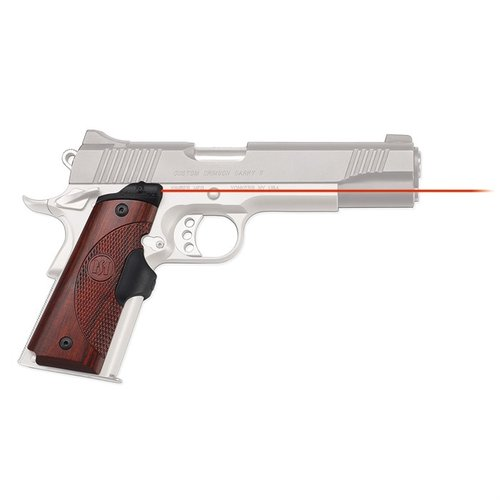 1911 Full-Size Rosewood Red Lasergrips