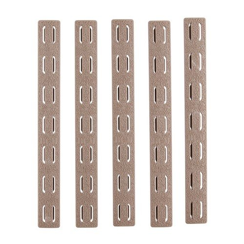 Rail Panel Kit 5-Pack Keymod Rubber Flat Dark Earth 5.5""