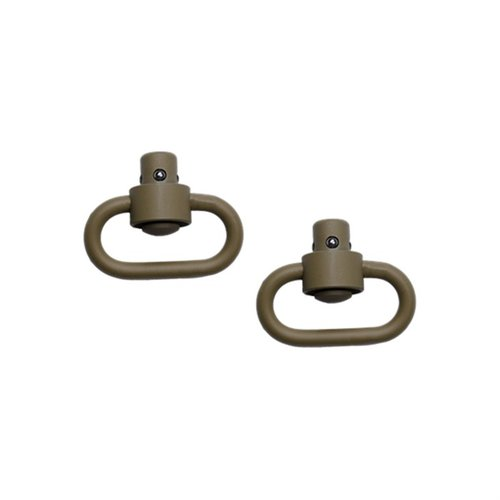 Push Button Swivels-Flat Dark Earth