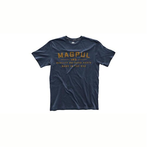Fine Cotton Go Bang Parts T-Shirt Navy Small