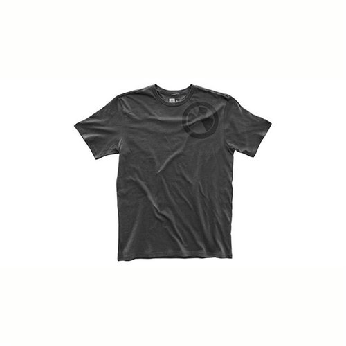 Fine Cotton Wet Logo T-Shirt New Charcoal Small
