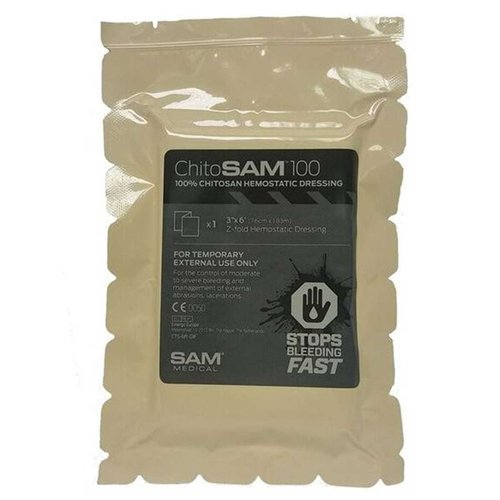 "3""x6"" Chito SAM Hemostatic Dressing"
