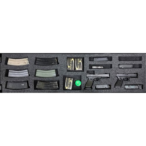 AR-15 Pelican 1750 V3 Bottom Layer Foam Insert