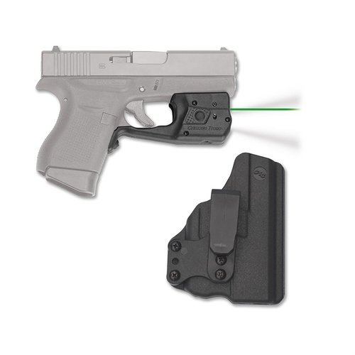 Glock 43 Laserguard Pro Green with Blade-Tech IWB Holster