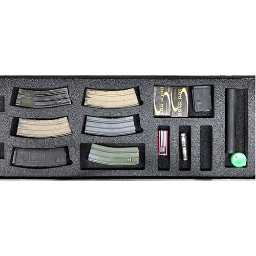AR-15 Pelican 1700 V1 Bottom Layer Foam Insert