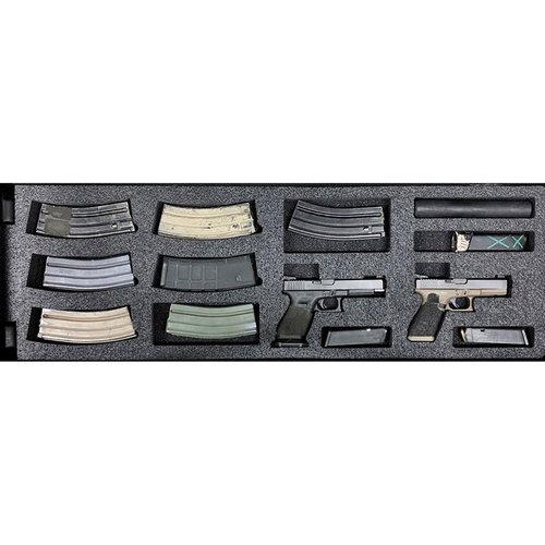 AR-15 Pelican 1720 V3 Bottom Layer Foam Insert