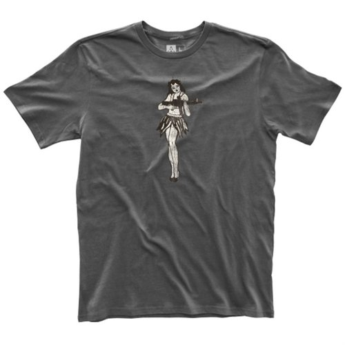 Men's Fine Cotton Hula Girl T-Shirt New Charcoal Large