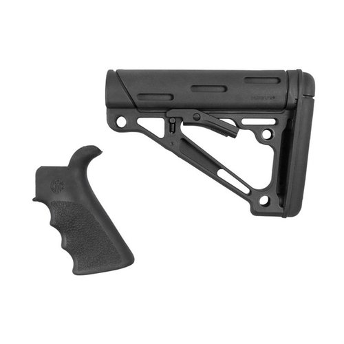 AR-15 FG BT Grip& OverMold Buttstock Collapsible MilSp Blk