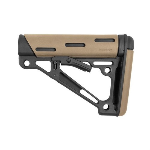 AR-15 OverMolded Buttstock Collapsible Comm FDE Rubber