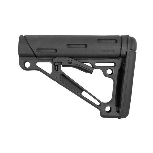 AR-15 OverMolded Buttstock Collapsible Comm Black Rubber