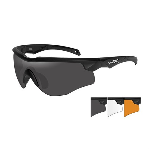 WX Rogue- Black Frame- Grey/Clear/Rust Lens