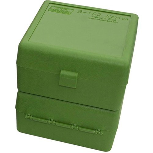 Ammo Boxes Rifle Green 17 Remington - 6x47 100