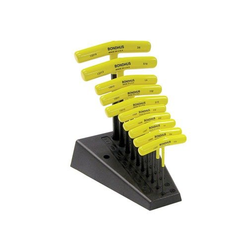 Bondhus T-Handle Hex Tool Set w/Stand